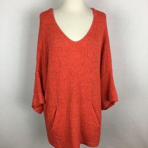 Free People Oversize Orange Sweater Medium